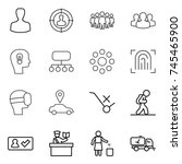 thin line icon set   man ... | Shutterstock .eps vector #745465900