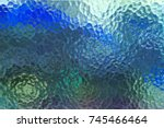 Abstract Colorful Frosted Glas...
