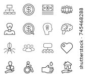 thin line icon set   hierarchy  ... | Shutterstock .eps vector #745468288