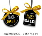 black friday sale tag with... | Shutterstock .eps vector #745471144