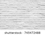 white brick wall background....   Shutterstock . vector #745472488