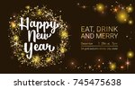 vector illustration new year... | Shutterstock .eps vector #745475638