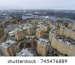 aerial view of the residential... | Shutterstock . vector #745476889