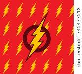 vector flash. symbol of speed.... | Shutterstock .eps vector #745477513