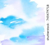 watercolor background. abstract ... | Shutterstock . vector #745479718