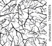 black and white seamless... | Shutterstock .eps vector #745480576
