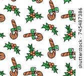 christmas new year seamless... | Shutterstock .eps vector #745487386
