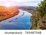 view of the vishera river from... | Shutterstock . vector #745487548