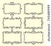 vector ornamental design...   Shutterstock .eps vector #745489999
