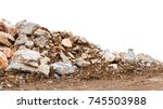 isolate mountain pile of... | Shutterstock . vector #745503988