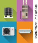 air condition system | Shutterstock .eps vector #745505638