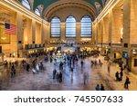 grand central terminal  new york | Shutterstock . vector #745507633