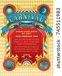 carnival party vector... | Shutterstock .eps vector #745511983