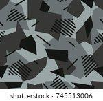 urban splintered camouflage... | Shutterstock .eps vector #745513006