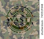 waste camo emblem | Shutterstock .eps vector #745519348
