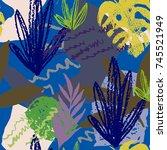 creative hand drawn textures.... | Shutterstock .eps vector #745521949