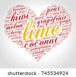 lime. word cloud in shape of... | Shutterstock .eps vector #745534924