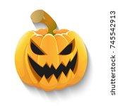 jack o'lantern | Shutterstock .eps vector #745542913
