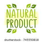 natural product sticker  vector ... | Shutterstock .eps vector #745550818