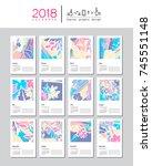 creative calendar template for... | Shutterstock .eps vector #745551148