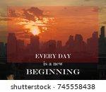 inspirational and motivation... | Shutterstock . vector #745558438