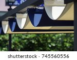 retractable awning | Shutterstock . vector #745560556