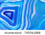 amazing banded blue agate...   Shutterstock . vector #745561888