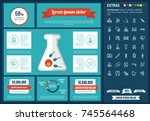 maternity infographic template... | Shutterstock .eps vector #745564468