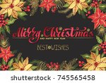 christmas party invitation... | Shutterstock .eps vector #745565458