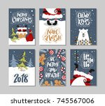 christmas gift cards or tags... | Shutterstock .eps vector #745567006