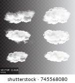 vector clouds over transparent... | Shutterstock .eps vector #745568080