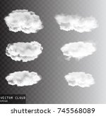 Vector Clouds Over Transparent...