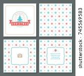 christmas greeting card vector... | Shutterstock .eps vector #745569583