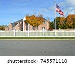 American Flag Suburban Brick...