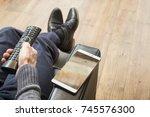 home interior smartphone mockup | Shutterstock . vector #745576300