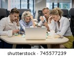 business disaster | Shutterstock . vector #745577239