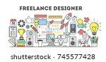 freelance designer illustration.... | Shutterstock . vector #745577428