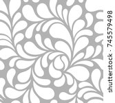 seamless pattern with floral... | Shutterstock .eps vector #745579498