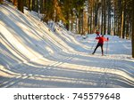 Cross Country Skier On The...