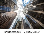 new york business center... | Shutterstock . vector #745579810