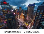 new york  usa   8 may 2017 ... | Shutterstock . vector #745579828