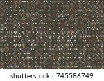 beautiful geometric pattern... | Shutterstock .eps vector #745586749