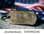 Closeup Of A Rusty Dog Tag With ...