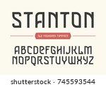 stanton decorative vector... | Shutterstock .eps vector #745593544