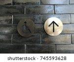 disabled signage on black...   Shutterstock . vector #745593628