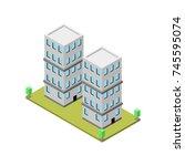isometric design building | Shutterstock .eps vector #745595074