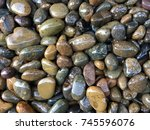 Wet River Stone Background
