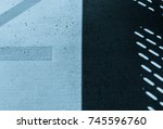 abstract shadow on concrete... | Shutterstock . vector #745596760