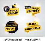 black friday sale banners. set... | Shutterstock .eps vector #745598944