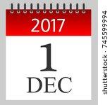 1 december 2017   daily... | Shutterstock .eps vector #745599994